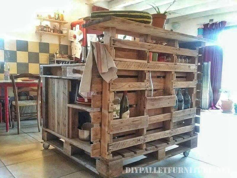 lot de cuisine faite avec des palettesmeuble en palette. Black Bedroom Furniture Sets. Home Design Ideas