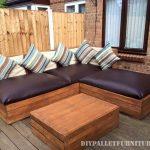 Canapé d'angle extérieur pour une terrasse