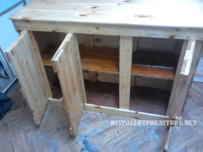 Petit placard int gr avec des palettes 3meuble en palette for Petit meuble en palette