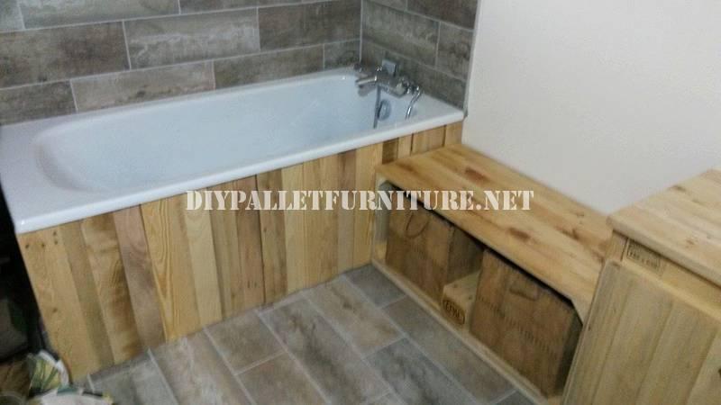 Salle de bains meublée avec palettes 1