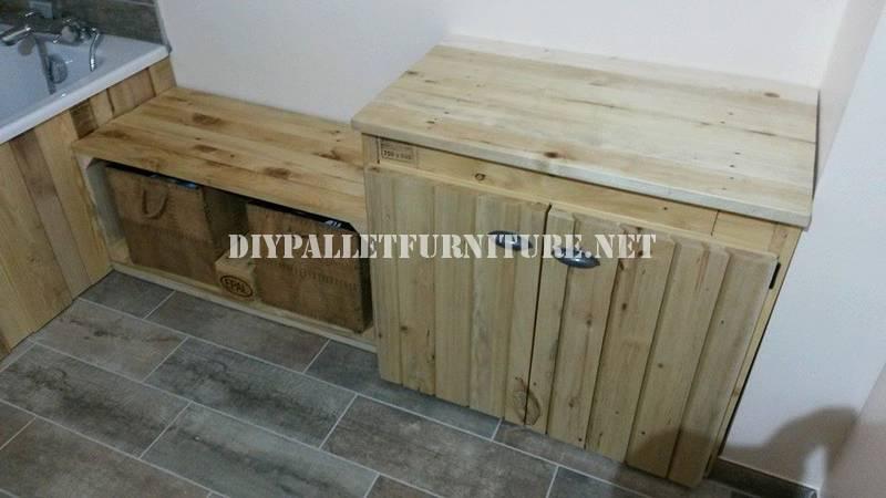 Salle de bains meublée avec palettes 4