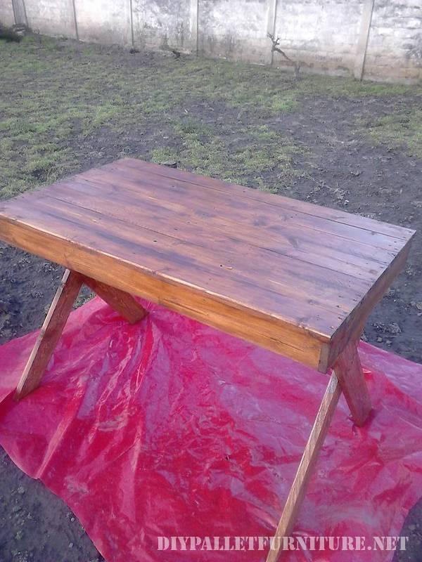 Table d ext rieur avec des palettes 3meuble en palette for Exterieur en palette