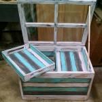 Table en verre avec des palettes