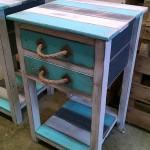 Table et coffre faite avec palettesmeuble en palette for Table pour chambre a coucher