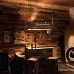 Bar privé entièrement réalisé avec des palettes