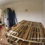 Cadre de lit avec un espace de stockage à l'intérieur