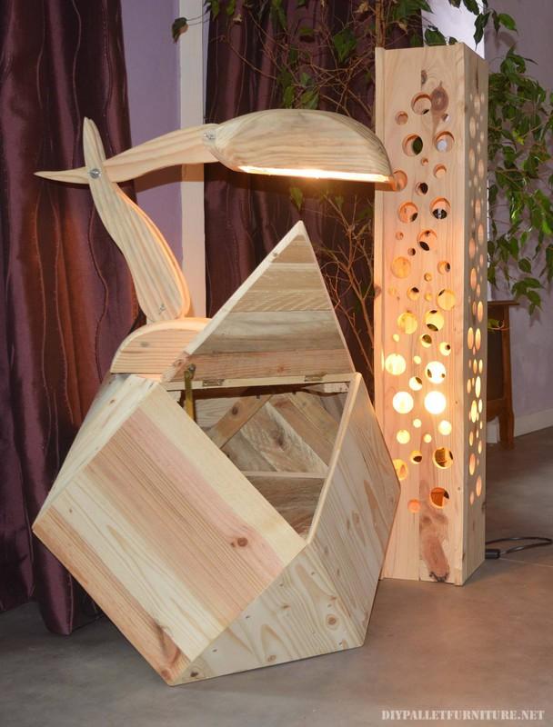 Lampes de design Belles faites avec des palettes 1