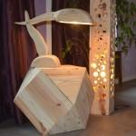 Lampes de design Belles faites avec des palettes