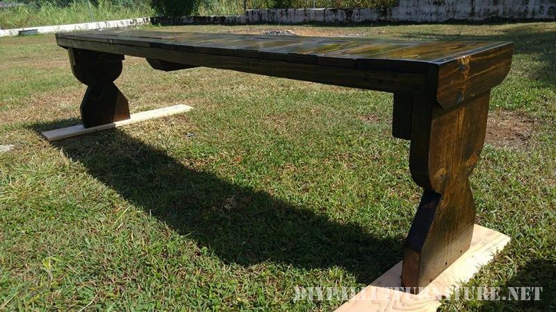 Table et banc de palettes 5