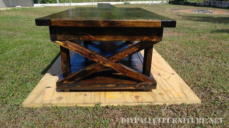 Table et banc de palettes 6