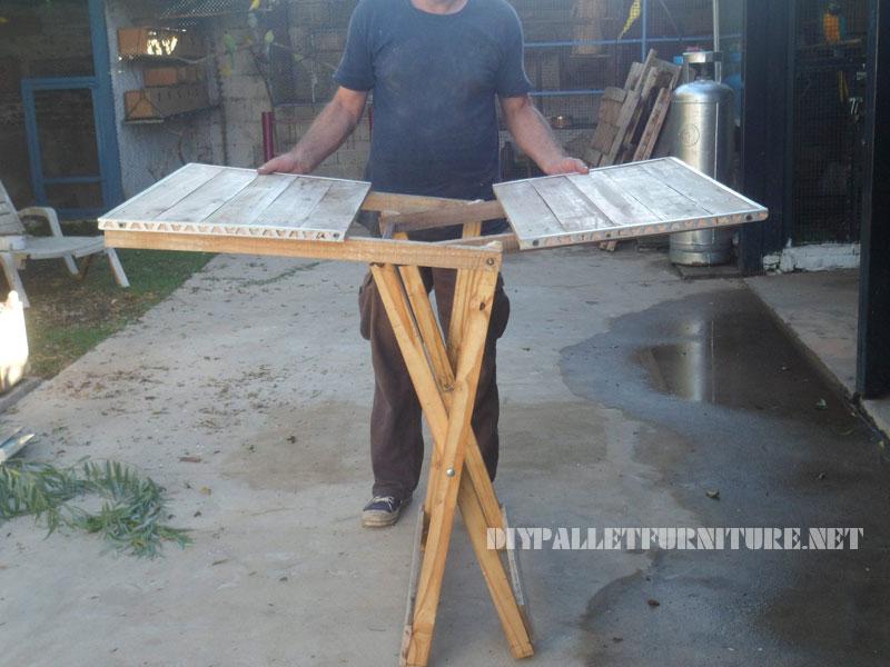 Table pliante avec des palettes 3