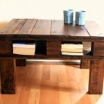 Table rustique avec une palette