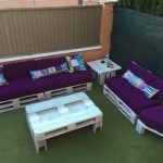 Sofas palettes et une table