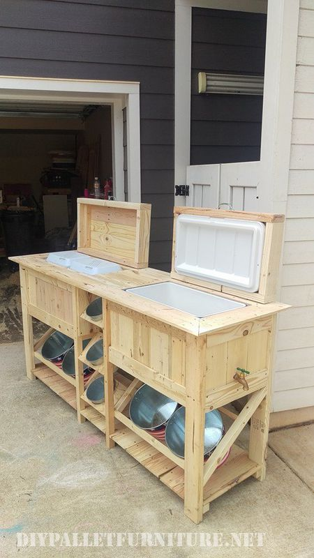 Bar extérieur et réfrigérateur avec palettes 4