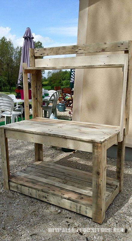 Mobilier de jardin en palette bois pictures to pin on - Meuble de jardin en palette ...
