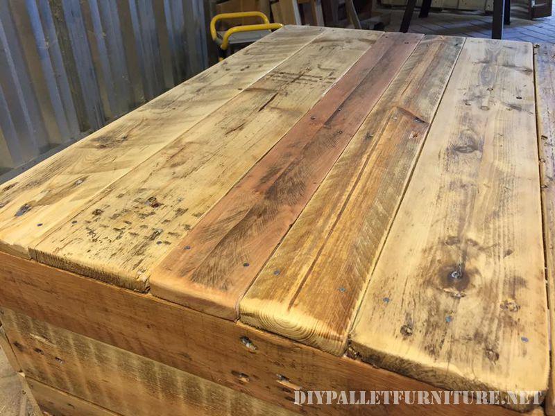 Table de salon avec une finition parfaitemeuble en palette - Table de salon avec des palettes ...