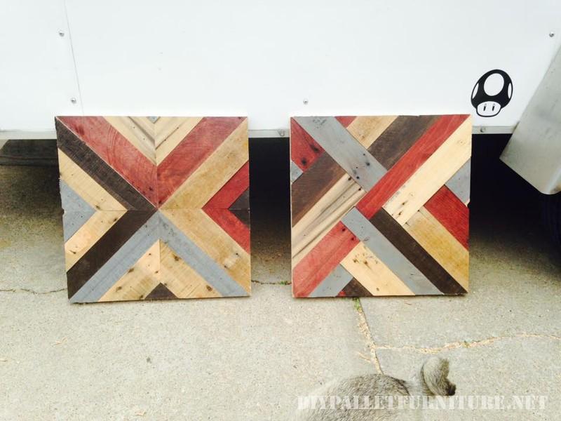 Tables avec frontières faite de palettes 3