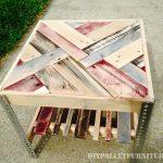 Tables avec frontières faite de palettes