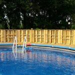 Clôtures pallet pour une piscine