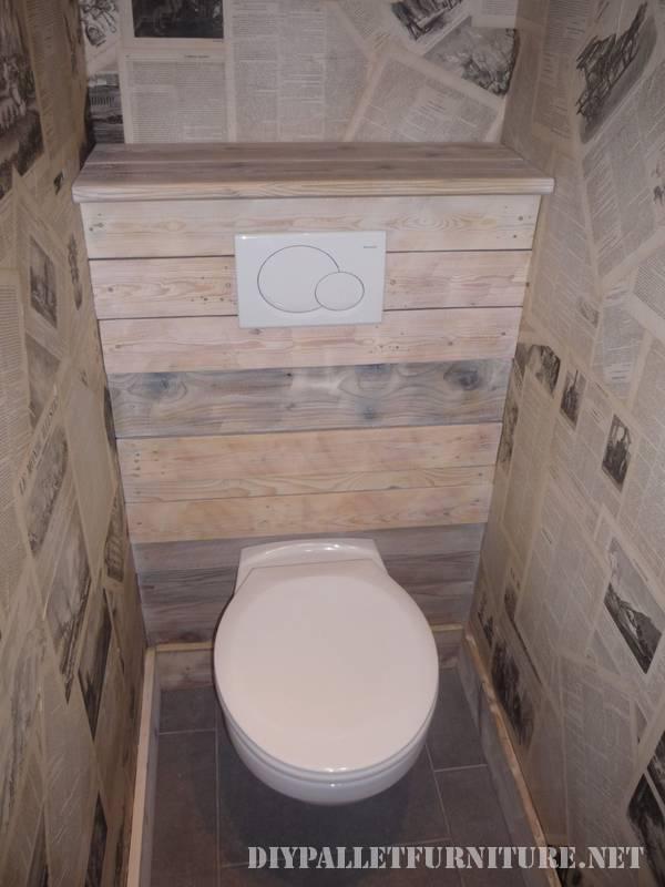 Grande salle de bain fait avec palettes 6
