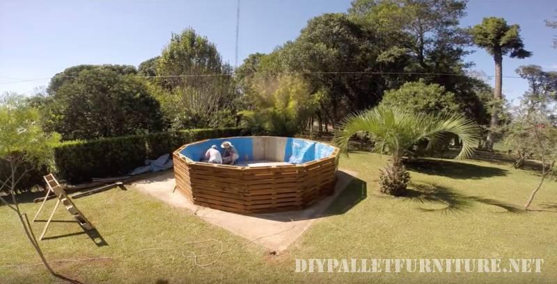 Vidéo de la façon de construire une piscine avec des palettes 3