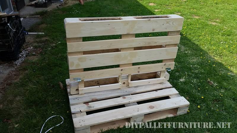 fauteuil pliant extérieur avec palettes 1