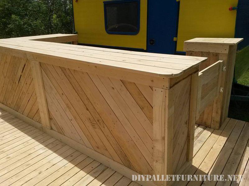 Bar-Terrasse Construite Avec Des Palettesmeuble En Palette