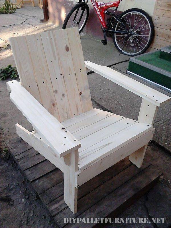 Chaise de jardin avec palettes 1