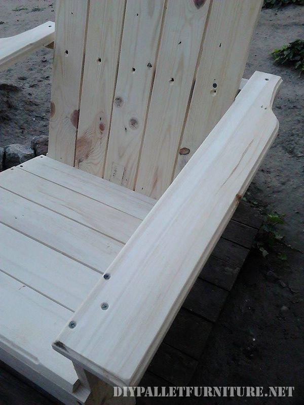 Chaise de jardin avec palettes 4