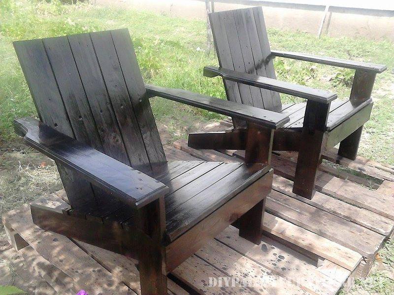 Chaise de jardin avec palettes 5