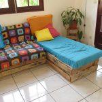 Facile salon meublé avec des palettes
