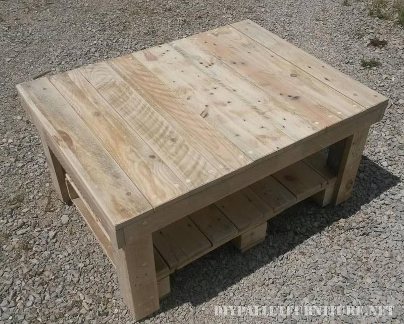 Table basse avec palettes 2meuble en palette meuble en - Construire table basse palette ...
