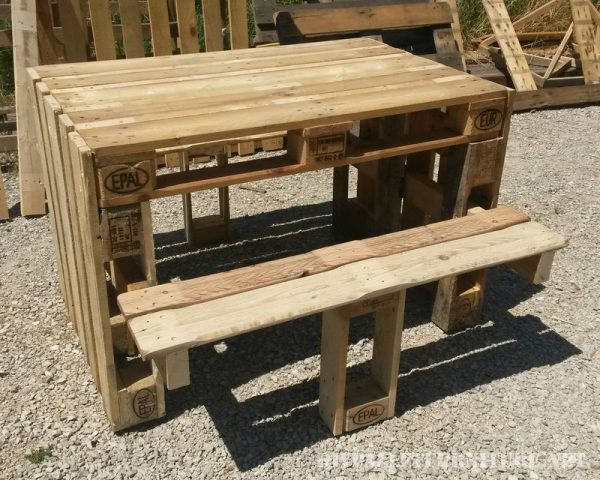 Jardin et terrasse meuble en palette - Construire une table avec des palettes ...