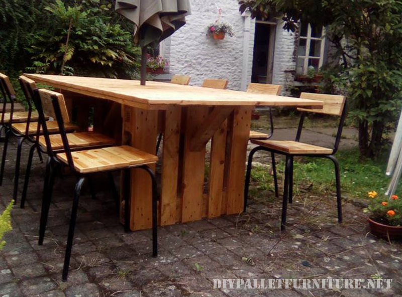Stunning Table Et Chaise De Jardin En Palette Images - Awesome ...