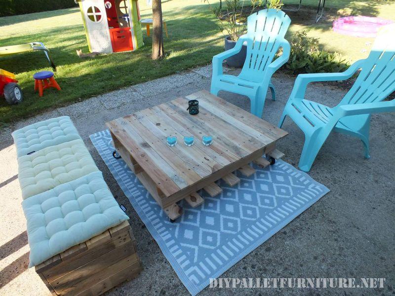 espace Chill-out pour la terrasse avec des palettes 1