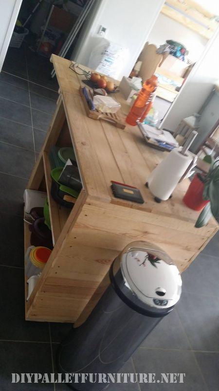 meubles de cuisine auxiliaire faite avec palettes 2