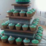Pallet support où placer les petits gâteaux
