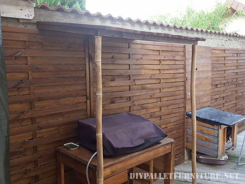 cabanon bbq 2meuble en palette meuble en palette. Black Bedroom Furniture Sets. Home Design Ideas