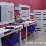 Coiffeur équipée de mobilier de palettes bricolage
