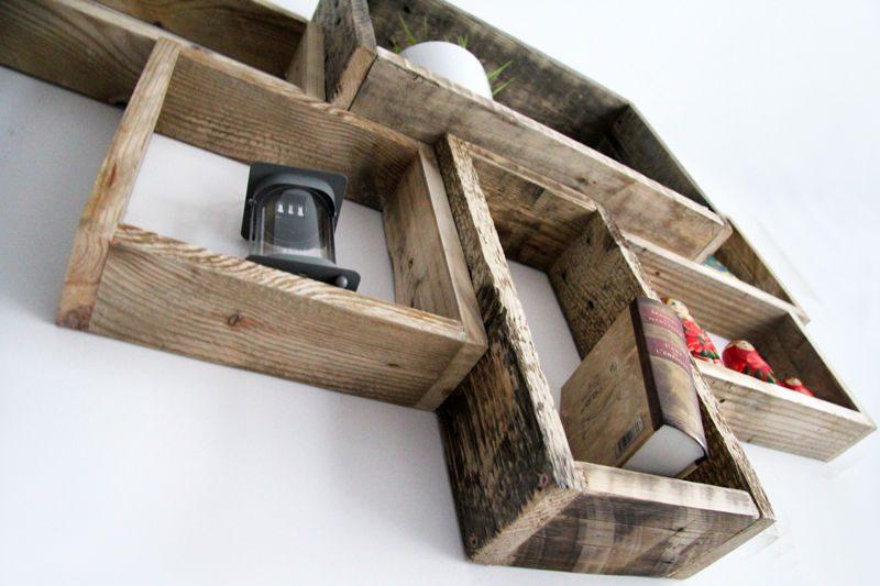 des exemples de tablettes que vous pouvez faire avec des. Black Bedroom Furniture Sets. Home Design Ideas