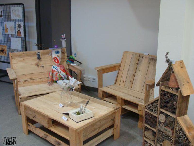 Ensemble de meubles d'origine de On ne est pas que des cageots 4