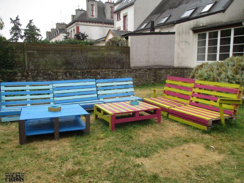 Mobilier de jardin on ne est pas que des cageots 1meuble - Mobilier de jardin en palette ...