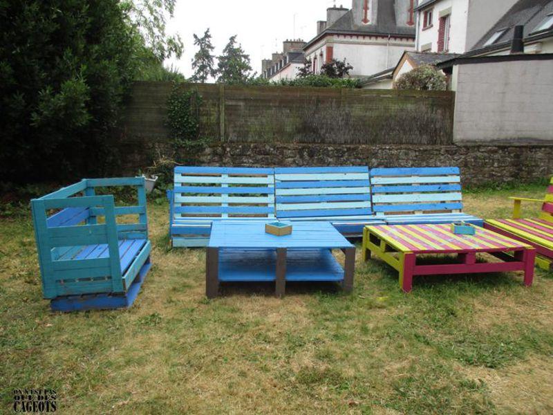 Palette mobilier de jardin for Mobilier de jardin unopiu