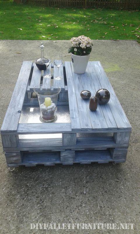 Petite table pour le jardinMeuble en Palette