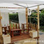 Stands pour salons construits avec des palettes