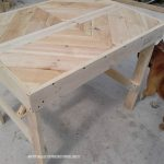 Table Pallet avec frise
