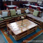 Canapé salon table faite avec palettes