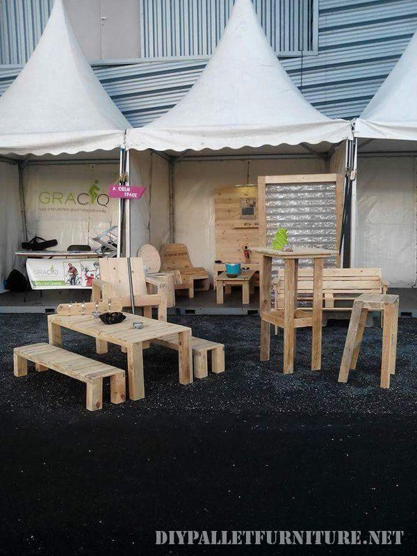Plusieurs meubles de palette pour le salon et le jardin - Meubles de jardin en palettes ...