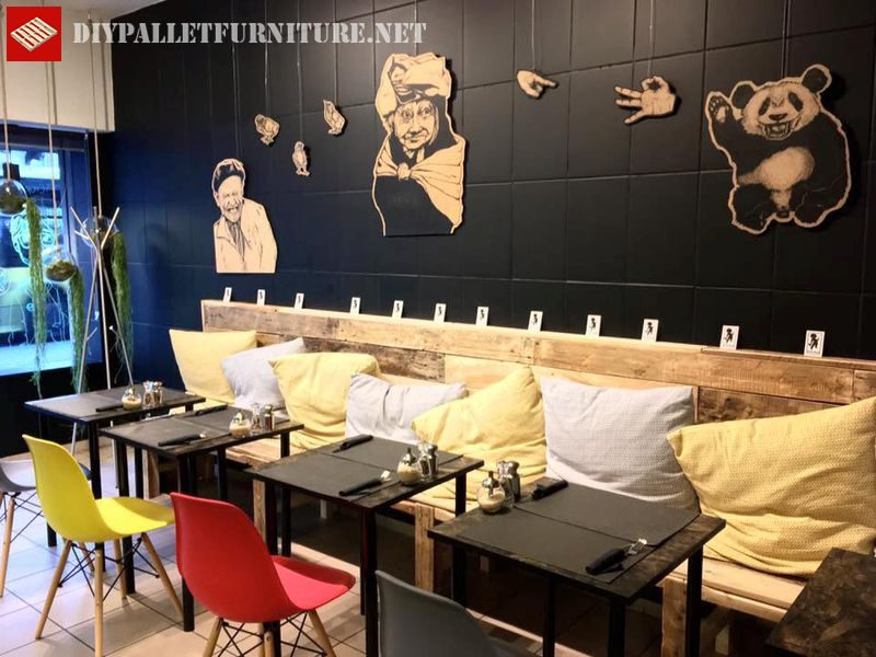 banc de palette pour bar 1meuble en palette meuble en palette. Black Bedroom Furniture Sets. Home Design Ideas