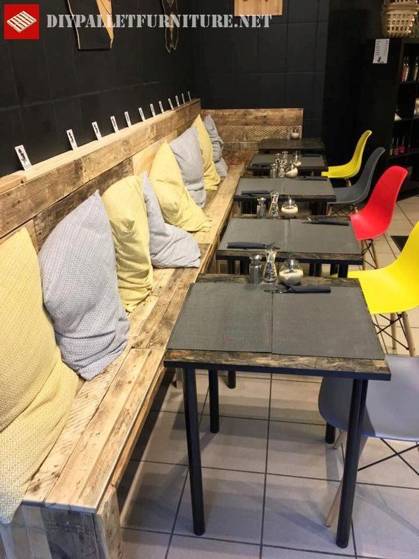 banc de palette pour bar 2meuble en palette meuble en palette. Black Bedroom Furniture Sets. Home Design Ideas